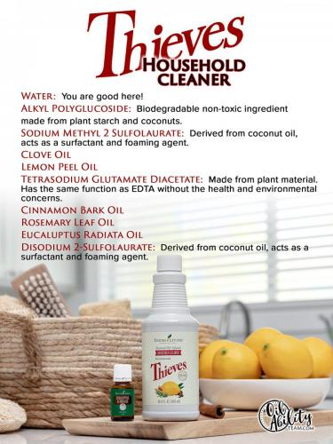 Thieves Household cleaner graphic