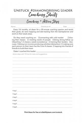 Coaching and Action Steps Page